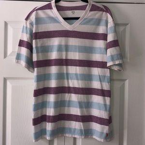 Izod V-Neck Striped SS T-Shirt